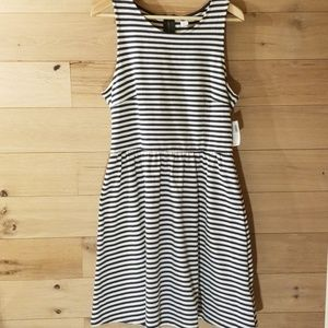 NWT Old Navy Blue Striped Sleeveless Dress